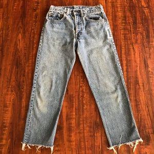 Vintage Levi's 505 Cropped Jeans - PETITE